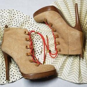 Tory Burch High Heel Hiking Boots size 9